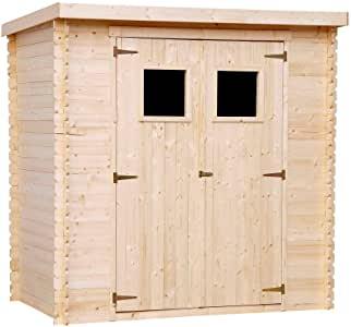 Abri de jardin bois toit plat n°1