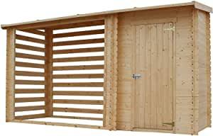 Abri de jardin bois toit plat n°3