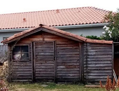 L'abri de jardin bois vieillit